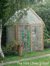 Build Your Own Greenhouse from Plastic Bottles